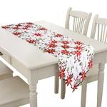 chemin-de-table-noel-fleur-rouge-blanc