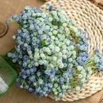 decoration-de-table-fleurs-artificielles-bleues