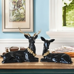 statuette-cerf-deco-noire