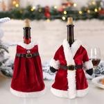 decoration-de-bouteille-manteau-pere-noel-rouge-et-blanc