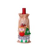 decoration-de-bouteille-pour-noel-paysage-hiver