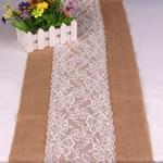 chemin-de-table-jute-et-dentelle-mariage-fleurs
