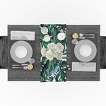 chemin-de-table-jungle-tropicale-anniversaire-feuilles