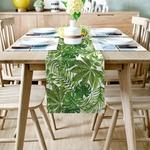 chemin-de-table-palmier-anniversaire-jungle-tropicale