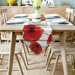 chemin-de-table-coquelicot-fleur-rouge
