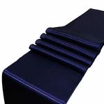 chemin-de-table-satin-bleu-marine-mariage-bapteme