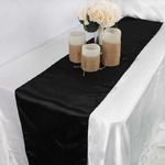 chemin-de-table-satin-noir-mariage-bapteme