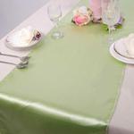 chemin-de-table-satin-vert-pomme-mariage