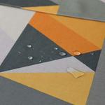 chemin-de-table-scandinave-jaune-et-gris-anti-tache