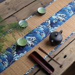 chemin-de-table-style-zen-bambou-bleu-japonais