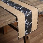 chemin-de-table-style-zen-bambou-japonais-noir