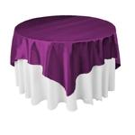 nappe-carree-tissu-satin-violet-mariage-table-ronde