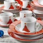 service-de-table-noel-porcelaine-blanc-rouge