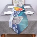 chemin-de-table-bleu-polaire-ours