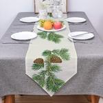 chemin-de-table-pomme-de-pin-vegetal