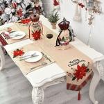 chemin-de-table-fleuri-noel-lin