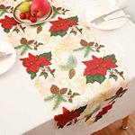 chemin-de-table-theme-noel-fleuri