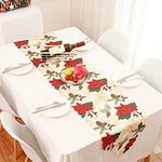 chemin-de-table-theme-noel-fleur