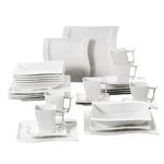 service-de-table-en-porcelaine-blanche