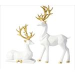decoration-de-table-renne-blanc