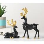 decoration-de-table-renne-noir