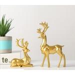 decoration-de-table-renne-blanc-et-or