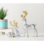 decoration-de-table-renne-blanc-moderne
