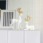 decoration-de-table-renne-blanc-statue
