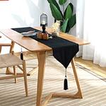 chemin-de-table-en-coton-noir-naturel