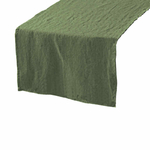 chemin-de-table-en lin-vert