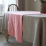 chemin-de-table-en-lin-rose-pale-fibre-naturelle