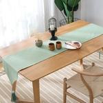 chemin-de-table-bapteme-vert-menthe-nature