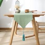chemin-de-table-bapteme-vert-menthe-lin