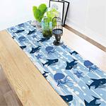 chemin-de-table-theme-mer-bapteme-bleu