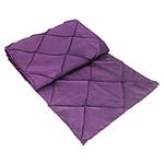 chemin-de-table-bapteme-princesse-satin-violet
