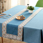 chemin-de-table-bapteme-bleu-naturel