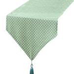 chemin-de-table-bapteme-vert-menthe