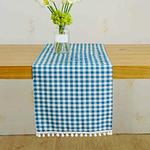 chemin-de-table-bapteme-bleu-garcon-carreaux