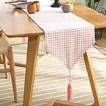 chemin-de-table-vichy-rose-carreaux
