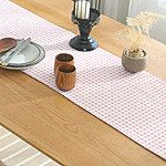 chemin-de-table-vichy-rose-motifs