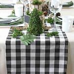 chemin-de-table-vichy-noir-carreaux