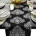 chemin-de-table-baroque-noir-motifs