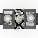 chemin-de-table-baroque-noir-motif