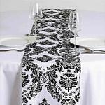 chemin-de-table-baroque-noir-et-blanc-arabesque