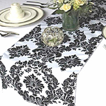 chemin-de-table-baroque-noir-et-blanc-mariage