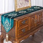 chemin-de-table-arabesque-turquoise-retro