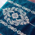 chemin-de-table-arabesque-turquoise-tissu
