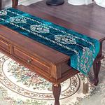 chemin-de-table-arabesque-turquoise-bleu