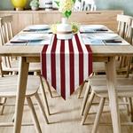 chemin-de-table-raye-rouge-et-blanc-moderne