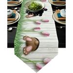 chemin-de-table-de-paques-lapin-jardin